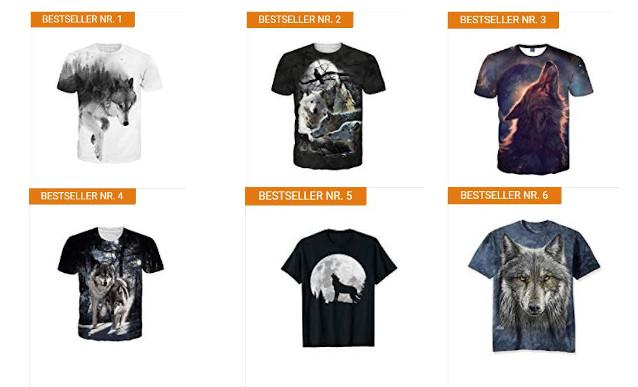 Beliebteste Wolf T-Shirts
