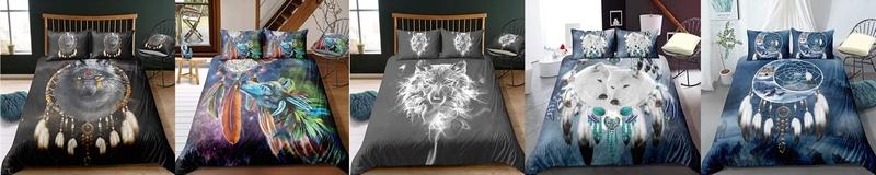 Bettbezüge Wolf-Dreamcatcher