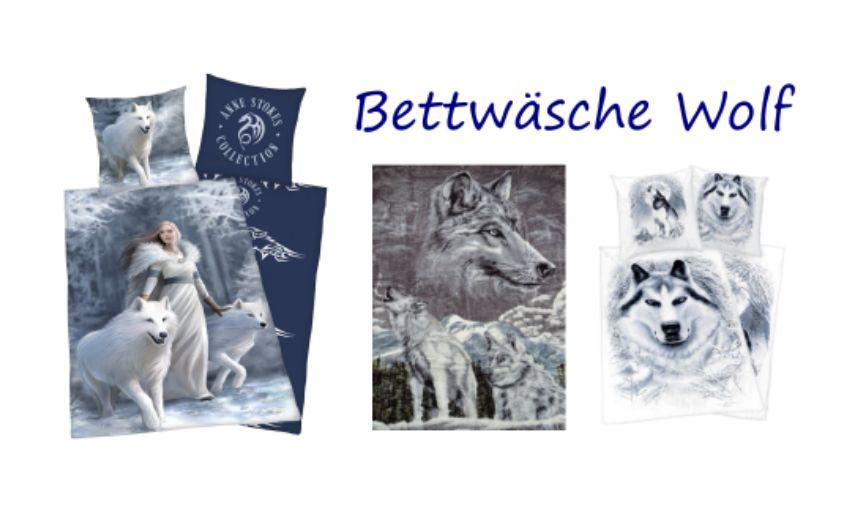 Bettwäsche mit Wölfen