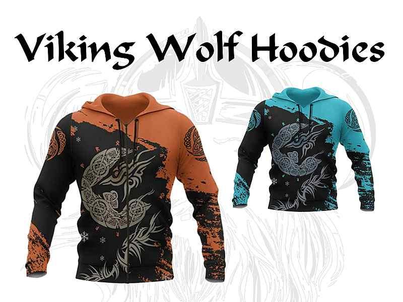 Viking Wolf Hoodie