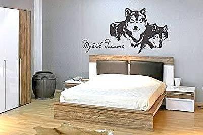 Wolf Kopf Mystic Dreams Wandtattoo