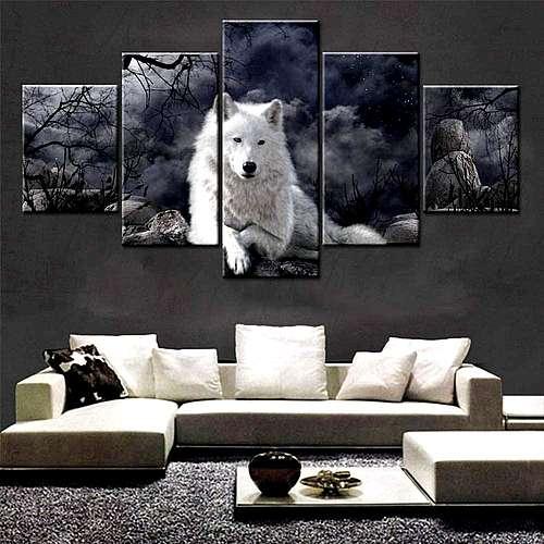 Wolf Deko Wandbild