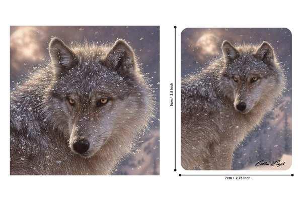 Kühlschrankmagnet Wolfsbild